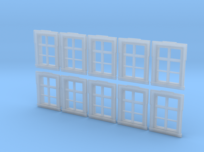 1/72nd scale buildabe windows (10 pieces) 3d printed