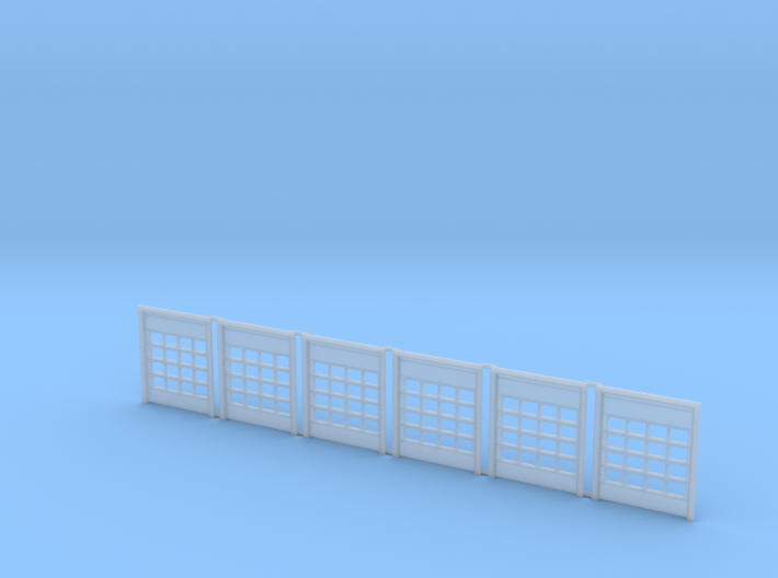 N Scale Fire Station Doors 6pc 3d printed