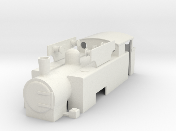 "OO Hudswell Clarke 0-6-0T ""S100"" - Chasewater 3d printed"