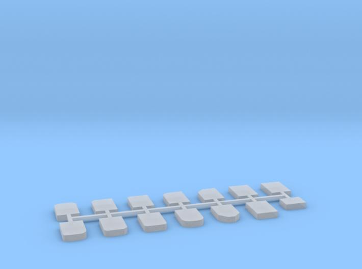 Grabsteine 14er Set 1:100 3d printed