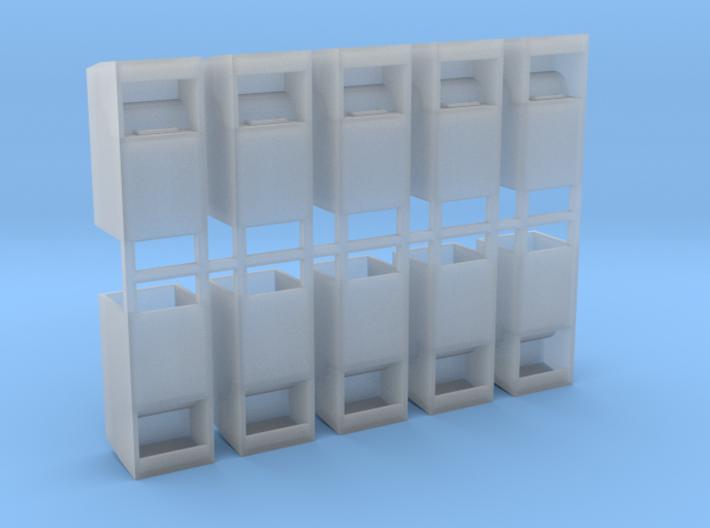 Altkleidercontainer 10er Set 1:76 3d printed