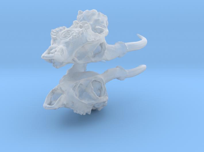 Muntjac Skull Earrings 3d printed