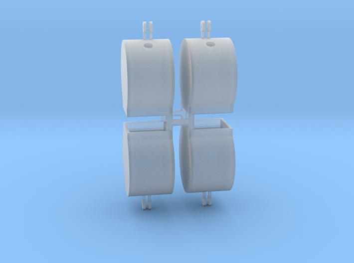 Altglascontainer Trommel 4erSet 1:87 H0 3d printed