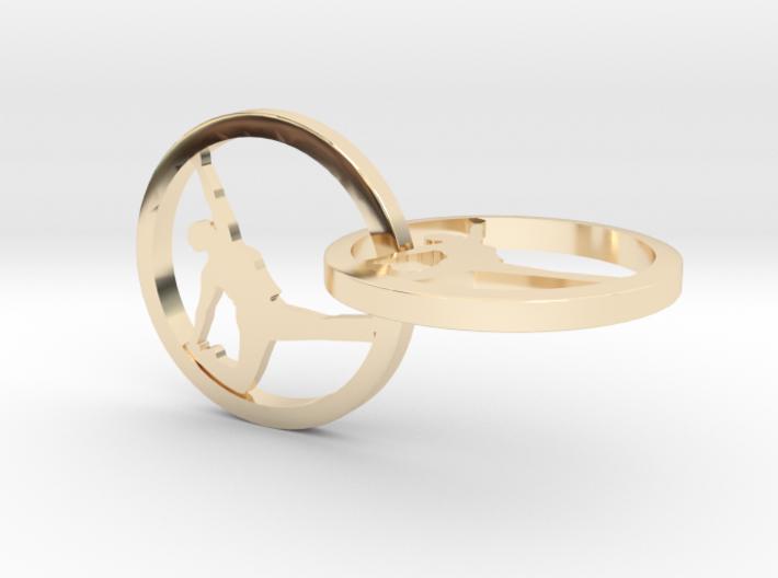 Yoga Jewelry earring 2hoop 3d printed