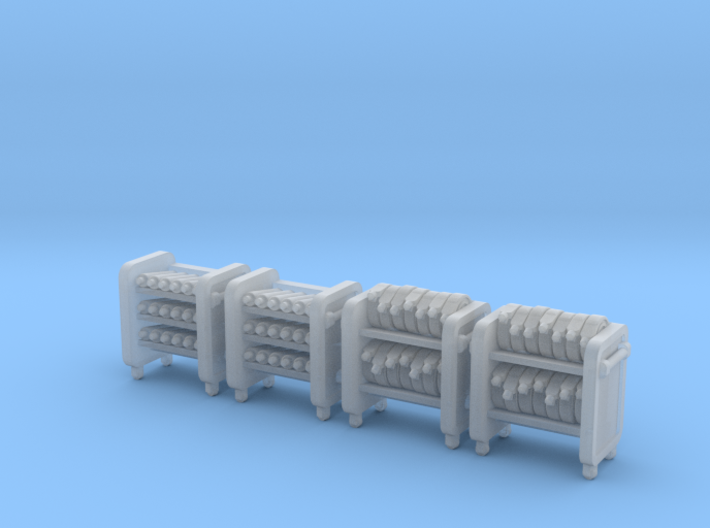 N Scale Fire Station Carts 3d printed