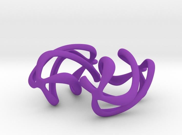Twisty - Earrings in Nylon Plastic 3d printed
