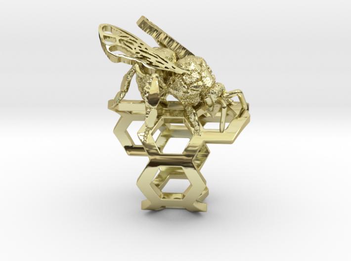Western Honey Bee Ring 3d printed
