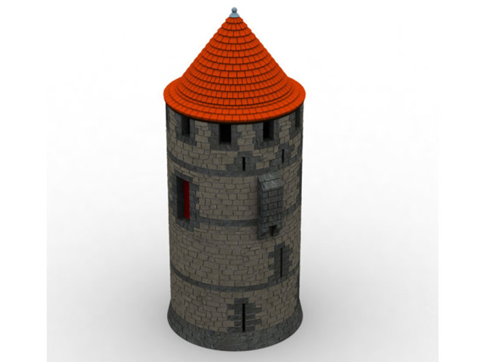 HOF012 - Roof for castle round tower HOF011 3d printed