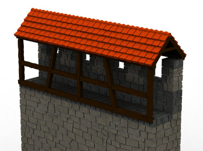 HOF031b - Roof for castle wall 3d printed
