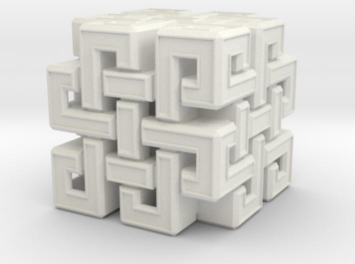 Eternal Knot Cube 3d printed