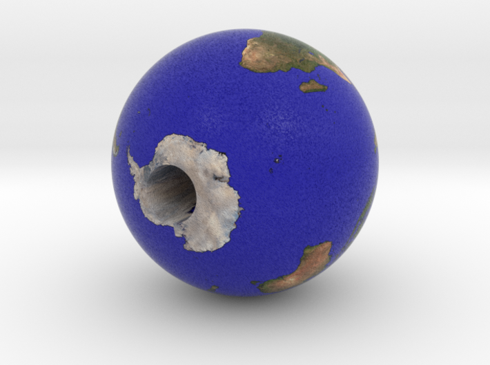 Earth with display hole 3d printed