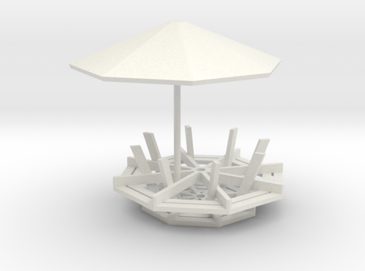1/64 scale Picinic table 3d printed