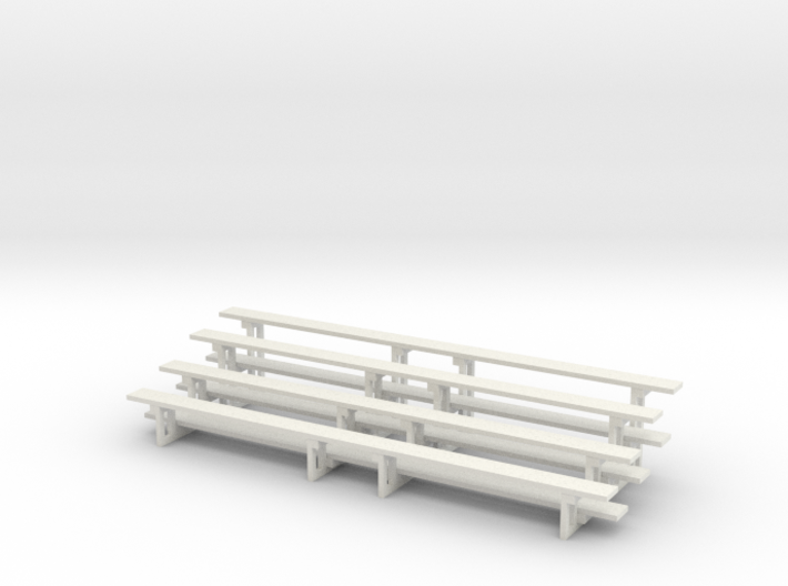 Printle Thing Bleachers - x 2 Horizontal - 1/24 3d printed