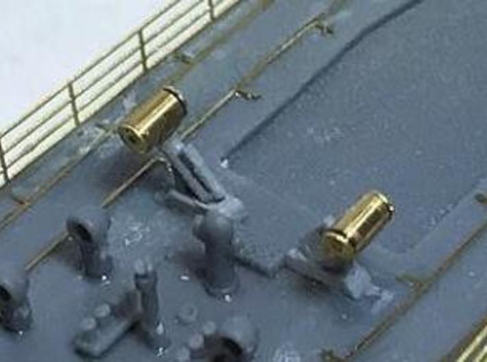 WW2_DC Guns_4Loaded_4Unloaded 3d printed Customer's photo with aftermarket metal depth charges.
