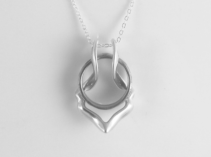 Ring Holder Pendant: Gazelle 3d printed Ring holder pendant necklace Gazelle