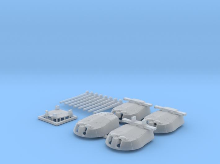"1/700 HMS Vanguard MKI* 15"" Guns 3d printed 1/700 HMS Vanguard MKI* 15"" Guns"
