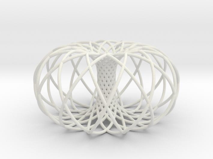 Torus of 2 sets of 12 circles 3d printed