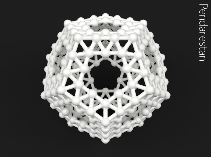 Dodecahedronium 3d printed Dodecahedron molecular space frame