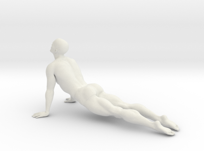 Male yoga pose 006 3d printed