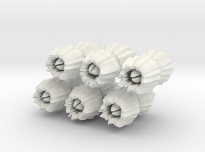 Barnacles, large, set of 12 3d printed