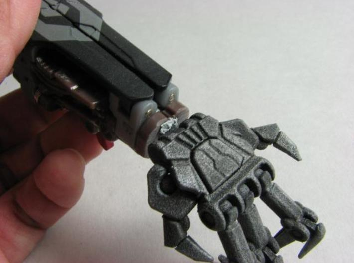 HFTD Leader Starscream poseable hands 3d printed Mounted.