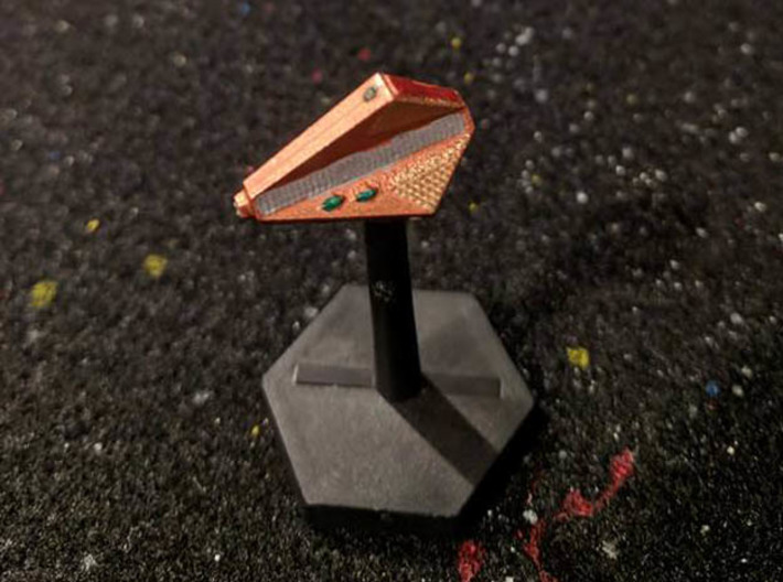 3788 Scale Tholian Police Carrier SRZ 3d printed Ship is in Smooth Fine Detail Plastic and painted by a fan. Stand not included.