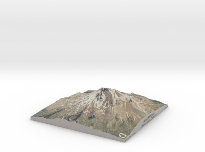 "Mount Shasta Map: 9""x9"" 3d printed"