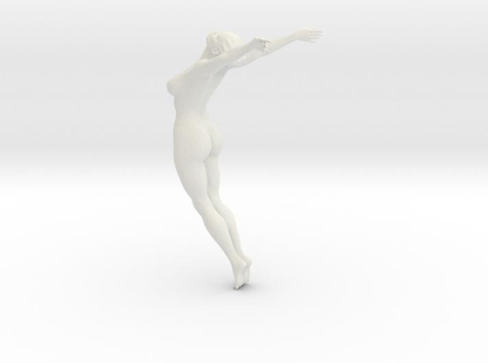 Female yoga pose 003 3d printed