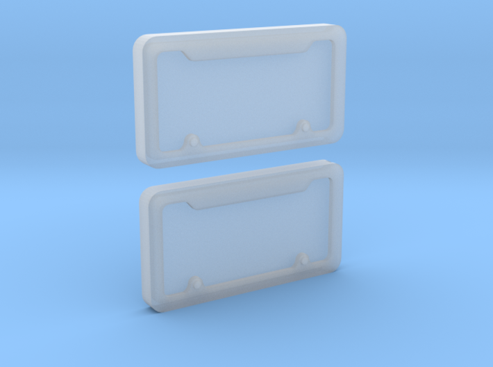 1/10 Scale License Plate Frames 3d printed