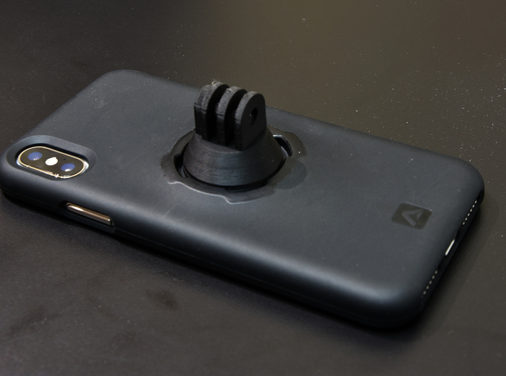 Quadlock Male to GoPro Female Adapter 3d printed