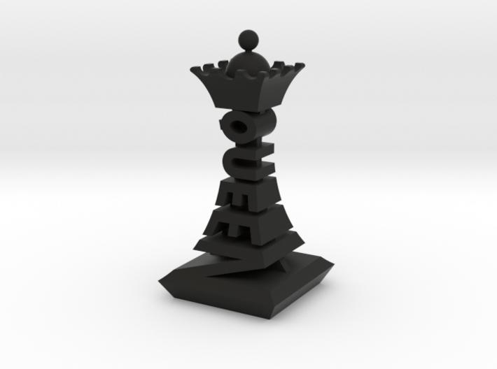 Modern Chess Set - QUEEN 3d printed