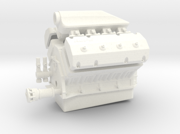 AJPE 1/12 Hemi single plug w/turbo intake 3d printed