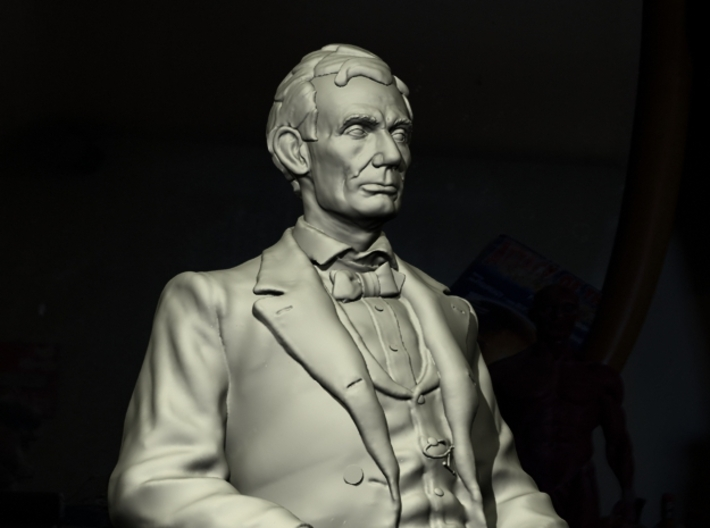 NG Young Abe Seated 3d printed Also rendered by DAZ