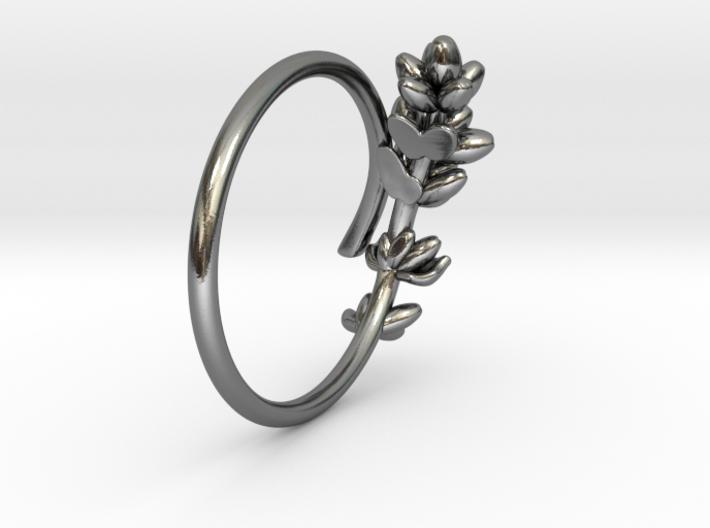 Lavender Ring 3d printed