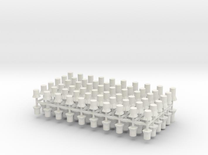 Baumstümpfe 120er Set - 1:120 TT 3d printed