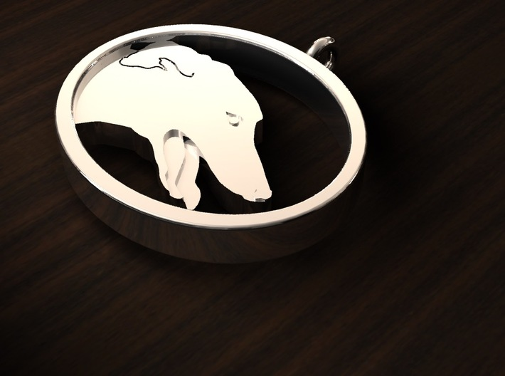 Greyhound Keychain 3d printed