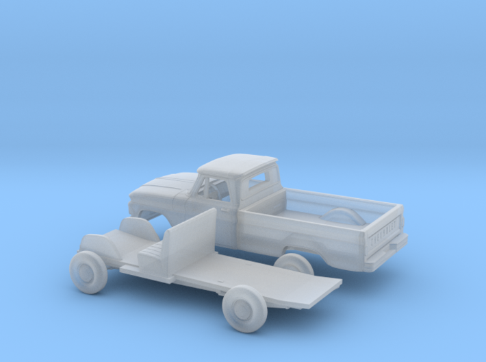 1/160 1963-66 Chevrolet C-10 Fleetside Small W.Kit 3d printed