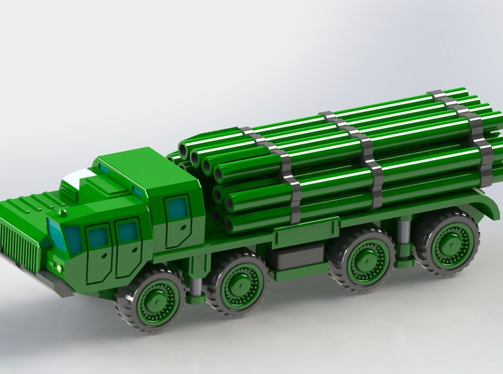 9A52 Smerch MLRS Battery 1/300 3d printed Add a caption...
