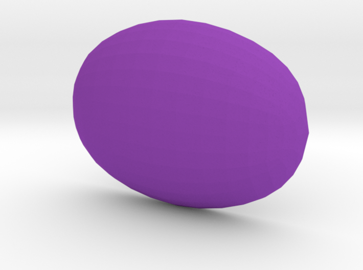 Smooth 18x13 Oval Cabochon in plastic 3d printed