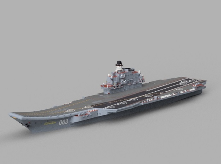 1/2000 RFS Admiral_Kuznetsov 3d printed Computer software render.The actual model is not full color.