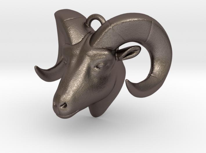 RAM head pendant (hollow) 3d printed