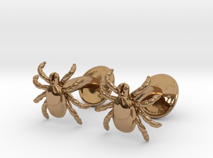 Tick Cufflinks - Nature Jewelry 3d printed