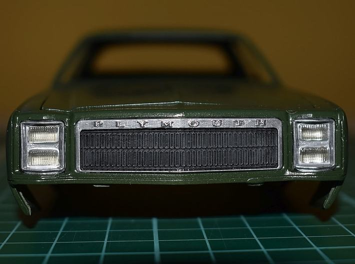1/25 1977 Plymouth Fury Grill 3d printed Picture shows painted sample