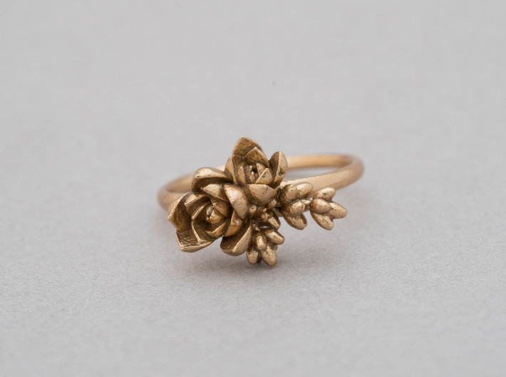 Botanical Cluster Ring 3d printed