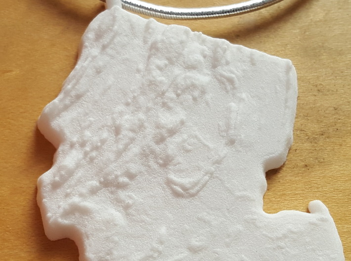 New Jersey Christmas Ornament 3d printed