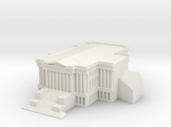 1/1000 U.S. Capitol Hill Left Wing 3d printed