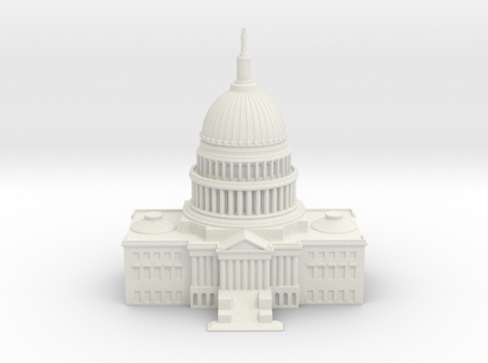 1/1000 U.S. Capitol Center 3d printed