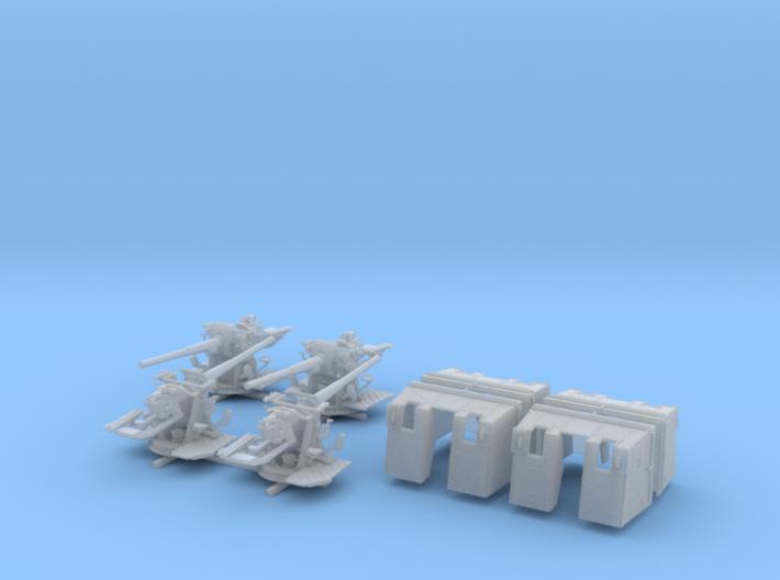 """1/144 4.7""""/45 (12cm) QF Mark IX CPXVII Guns x4 3d printed 1/144 4.7""""/45 (12cm) QF Mark IX CPXVII Guns x4"""