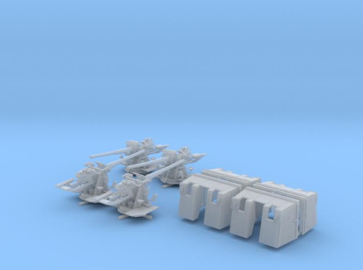 """1/128 4.7""""/45 (12cm) QF Mark IX CPXVII Guns x4 3d printed 1/128 4.7""""/45 (12cm) QF Mark IX CPXVII Guns x4"""