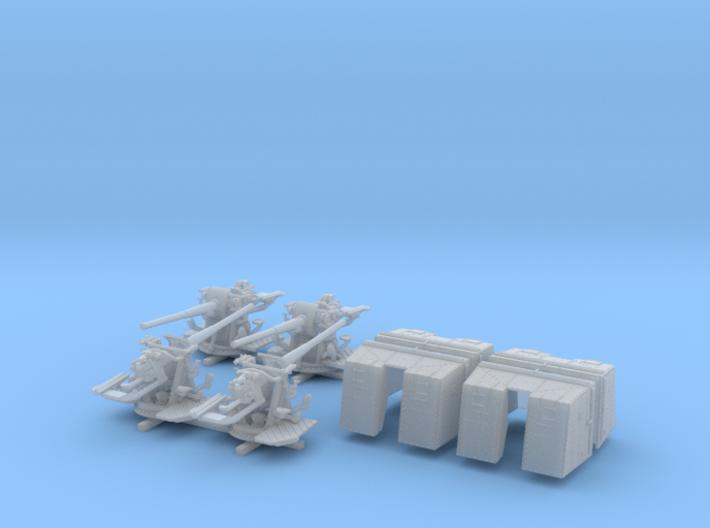 """1/200 4.7""""/45 QF MK IX CPXVII Guns Ports Closed x4 3d printed 1/200 4.7""""/45 QF MK IX CPXVII Guns Ports Closed x4"""